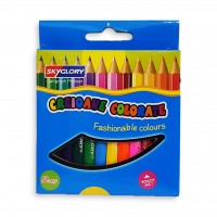 Skyglory Color Pencil Small 3.5 inch Pack of 12