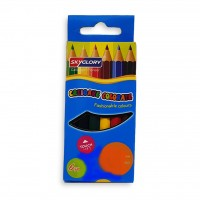 Skyglory Color Pencil Small 3.5 inch Pack of 6