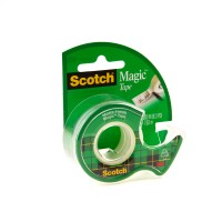 Scotch Magic Tape in Dispenser 105. 3/4 x 300 in (19mm x 7.62m). 1 roll/dispenser