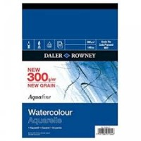 "Daler Rowney Aquafine Watercolour paper (Not Surface) 20 x 16"" (508 x 406mm)"