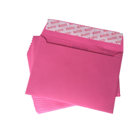 Elco Color C6 Envelope Pink without window, adhesive closure