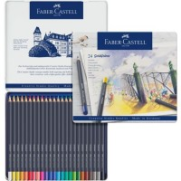 FABER-CASTELL Colour pencil perm. Goldfaber tin of 24