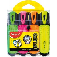 Maped Fluo Peps Highlighter Classic Packx4 Asst