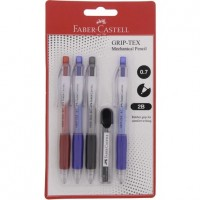 FABER-CASTELL GRIP TEX Mechanical Pencil (set of 4+1 lead tube)