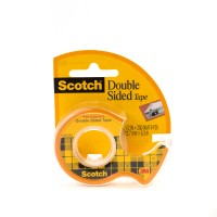 Scotch Double Side Tape in Dispenser 136. 1/2 x 250 in (12mm x 6.35m). 1 roll/dispenser