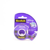 Scotch Giftwrap Tape in Dispenser 15. 3/4 x 650 in (19mm x 16.5m). 1 roll/dispenser