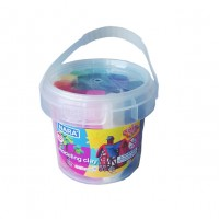 Kiddy Clay Modeling Clay 12Color bucket 200g + 2 Molds