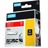 DYMO RH TP 12mm White/Red Vinyl