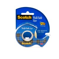 Scotch Wall-Safe Tape in Dispenser 183. 3/4 x 650 in (19mm x 16.5m). 1 roll/dispenser