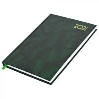 FIS A5 Diary 2021 English (Saturday & Sunday Combined) Green