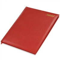 FIS Executive Diary 2021 English/French (1 Week at a glance) Vinyl, 1 Side Padded, Cover, Red