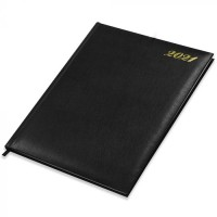 FIS Executive Diary 2021 English/French (1 Week at a glance) Vinyl, 1 Side Padded, Cover, Black