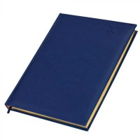 FIS Executive Diary 2021 (English) 1 Side Padded with Gilding, Blue