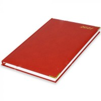 FIS A4 Diary 2021 English (Golden Corners) Red