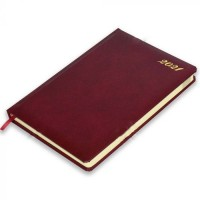 FIS Agenda Diary 2021 (English) Bonded Leather, 1 Side Padded, Maroon