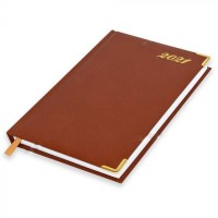 FIS Diary 2021 English (Golden Corners) Brown, A5