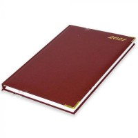 FIS A4 Diary 2021 English (Golden Corners) Maroon