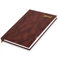 FIS A5 Diary 2021 English (Friday & Saturday Combined) Brown