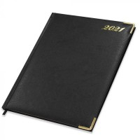 FIS Golden Executive Diary 2021 English/French (1 Week at a glance) Black