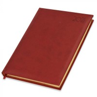 FIS Executive Diary 2021 (English) 1 Side Padded with Gilding, Maroon
