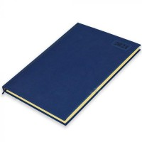 FIS A4 Diary 2021 English (Saturday & Sunday Combined) Blue