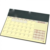 FIS Year Planner 2021 (Arabic/English) with PVC Desk Blotter and Italian PU Flap, Green