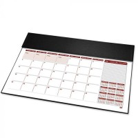 FIS Year Planner 2021 (English/French) Italian PU with Desk Blotter, Black