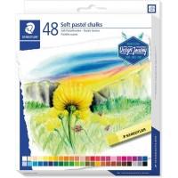 Staedtler 2430-C48 Soft pastel chalks  Set 48 Colors