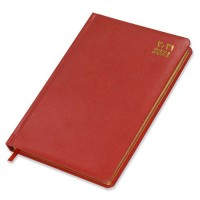 FIS Golden Diary 2021 A5 Vinyl (Arabic/English) 1 Side Padded, Round Corner Red