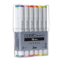 Copic Sketch 12pc Colors sets including Black