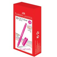 FABER-CASTELL Ball pen CX Colour Pink Box of 10