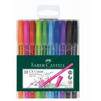 FABER-CASTELL Ball Pen CX Colour Wallet of 10-GRN