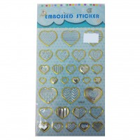 Embossed  Stickers Heart