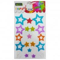 Eva Sponge Shapes with Glitter - Stars