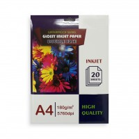 Glossy Two Face Inkjet Paper 180gsm A4-20sht