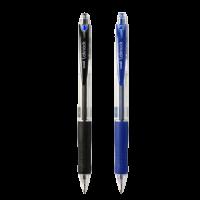 Uni Laknock SN100F Ball point Pen 0.7mm  Blue&Black Blister Pack