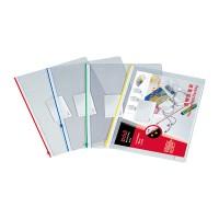Deli PVC View Zip Bag A4 4C