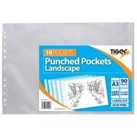 Tiger A3 Landscape Punched Pockets