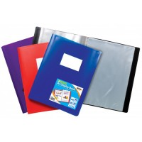 Tiger A4 20 Pocket Flexi Display Book Assorted