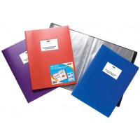 Tiger A4 60 Pocket Flexi Display Book Assorted