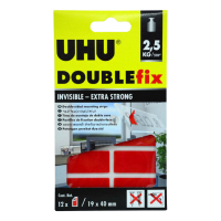 UHU Double-Sided Mounting Strips 2.5KG/Roll Blsiter- 45515