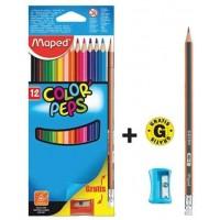 Maped Color Peps Pencils 12+1Pencil + Sharpner