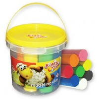 Kiddy Clay Modelling Clay set of 8 Color  Bucket