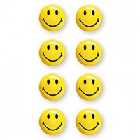 MAGNETOPLAN MAGNETIC SMILEYS (ON BLISTER) (Size 20 mm) 8Pcs/ Packets