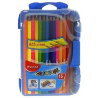Maped Color Peps Pencils 12+3 FluoPeps