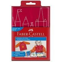 FABER-CASTELL Painting apron 4 young artist Red/Orange