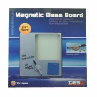 DesQ Magnetic Glassboard White 35 x 35 cm
