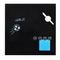 DesQ Magnetic Glassboard Black 45 x 45 cm