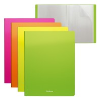 ErichKrause®  File folder Diagonal Neon, 40 pockets, A4, assorted