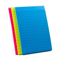 Post-it Super Sticky Notes Miami Collection 4645-3SSMIA. 4 x 6 in (101 mm x 152 mm), 45 sheets/pad, 3 pads/Pack. Lined
